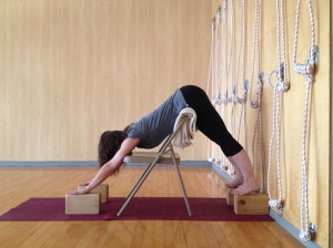 Adho Mukha Svanasana - supported with a chair