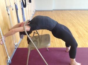 Urdhva Dhanurasana - lifting up from the chair
