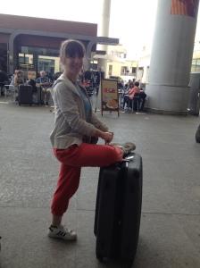 suitcase yoga