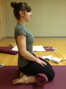 virasana side view - steph